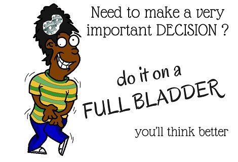 full bladder helps make decision