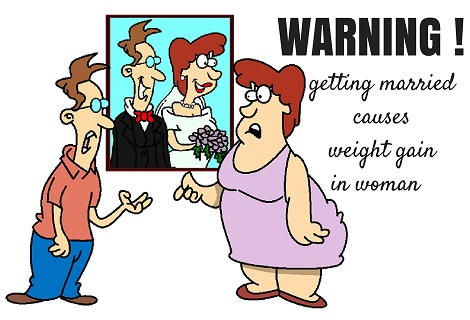 when women marry they gain more weight
