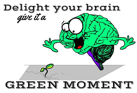 brain enjoying a green moment