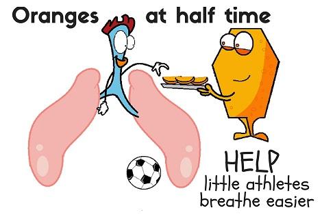 oranges at half time help lungs breathe