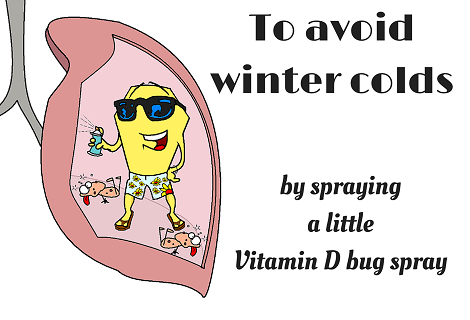 vitamin d fumigating the lung