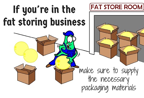 packing fat cells