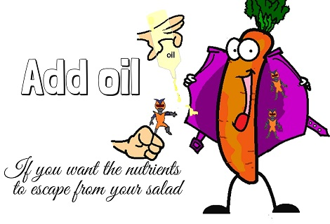 oil in salad dressing getting carotenoids out