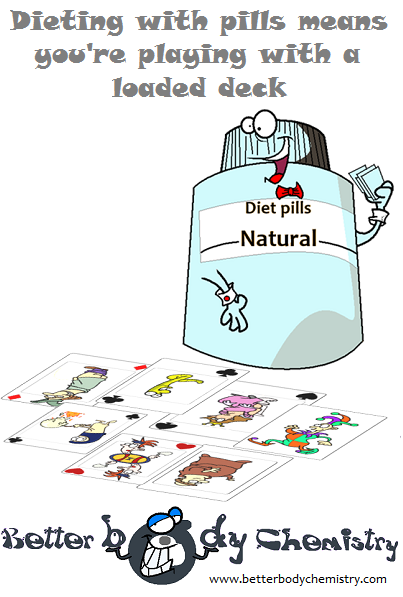 diet pill bottle playing cards