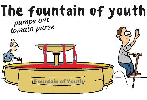 fountain of youth pumping tomato puree