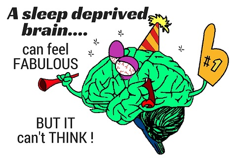 a sleep deprived brain