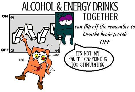 alcohol and caffeine