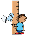 little boy being measured for stunting