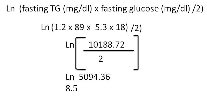 tyg index calculation