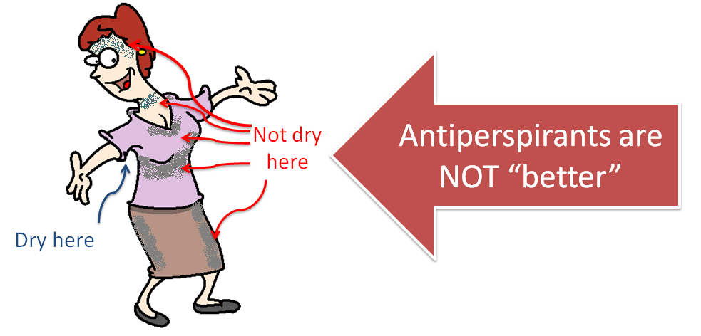 antiperspirants are not better than deodorants