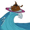 poop surfing