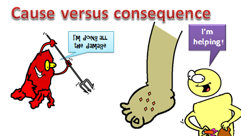 cause versus consequence