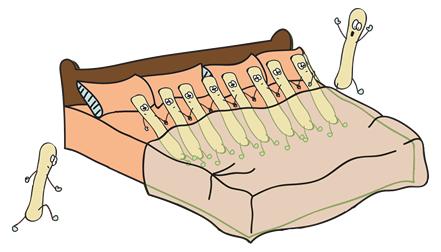 cartoon of desquamation