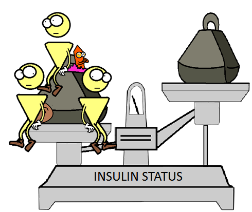 extra insulin not changing the insulin status