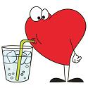 heart drinking water