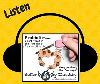Listen to post-antibiotic probiotics