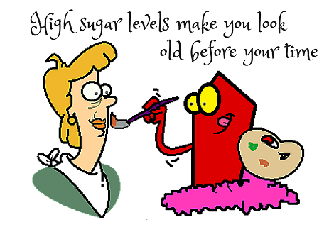sugar making women old before her time
