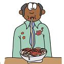 man experiencing a spaghetti slip