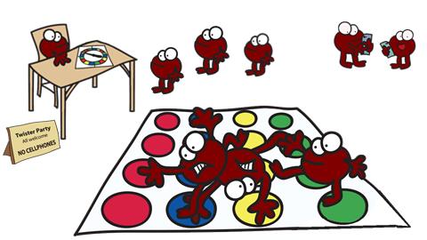 platelets playing twister i.e. clotting
