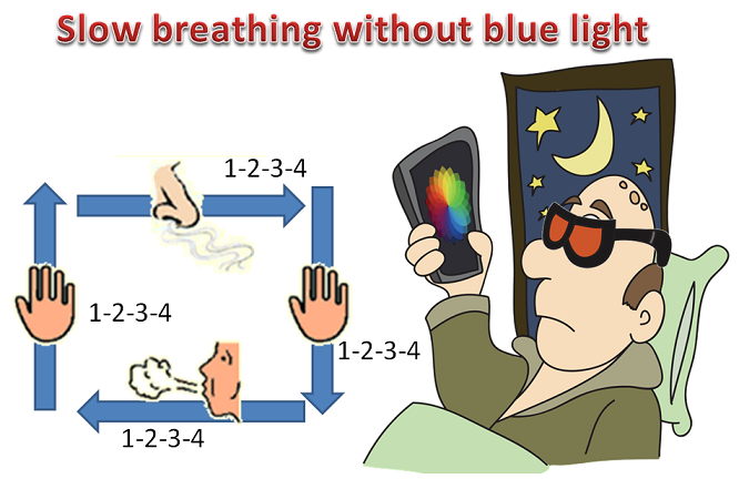slow breathing without blue light