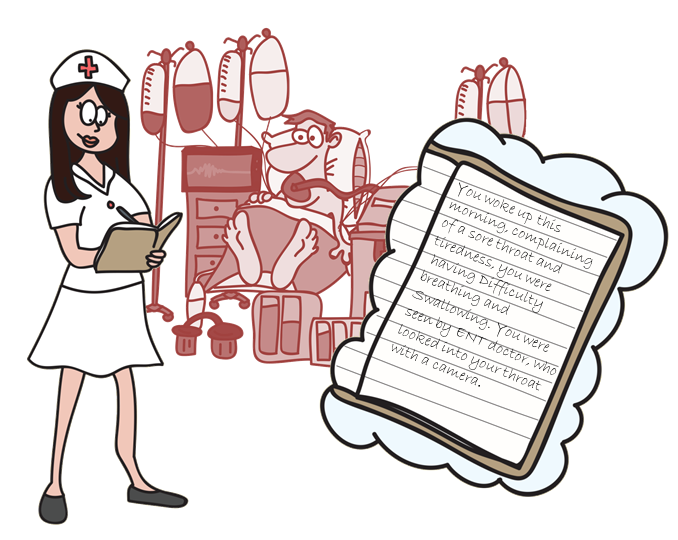 nurse writing an ICU diary