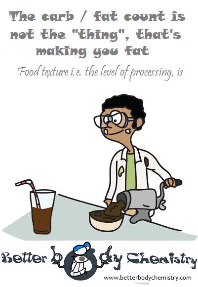scientist grinding up food