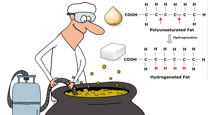 food scientist hydrogenating soyabean oil
